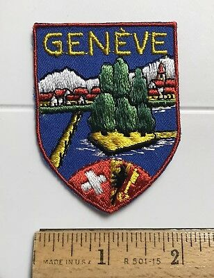 Geneve Geneva Switzerland Swiss Suisse Souvenir Travel Patch Badge
