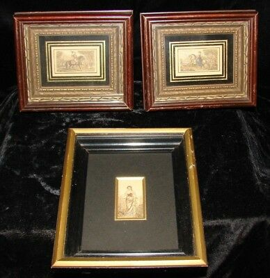 3 Framed Baxter Needle Box Prints Queen Victoria Prince Albert The Flower Maiden