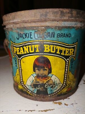 """1920's Jackie Coogan Peanut Butter Tin. The Kelley Co. Cleveland Ohio """"Dixie"""""""