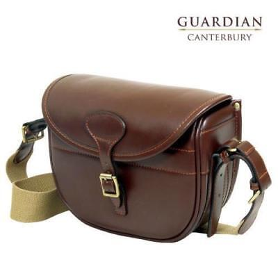 Guardian Canterbury Cartridge Bag Genuine Chestnut Leather Rapid Load Shooting