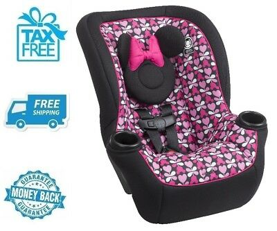 New Disney Minnie Mouse Purple Convertible Car Seat Baby Boy Chair Girls Booster