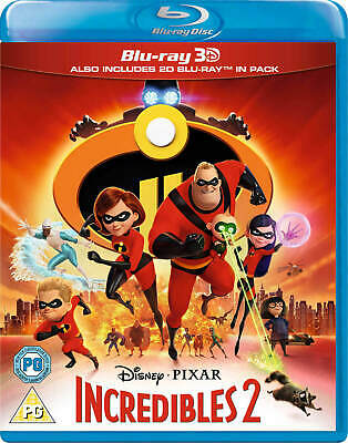 Incredibles 2 3D [Blu-ray+ 3D] New and Factory Sealed!!