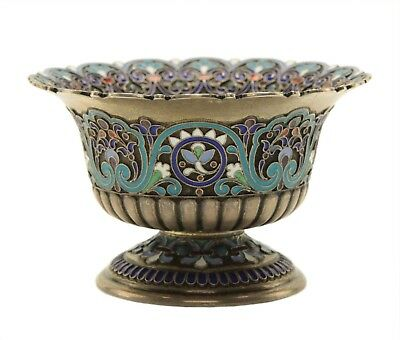 Russian Silver Enamel Small Bowl