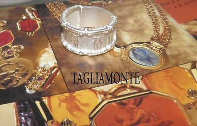 TAGLIAMONTE Band Ring*RARE Size 13*SS/925*BEAUTIFUL Repeating Cameo*16.36 grams*