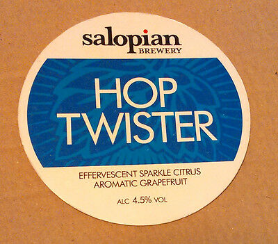Beer pump badge clip SALOPIAN brewery HOP TWISTER cask ale pumpclip shropshire