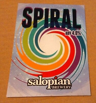 Beer pump badge clip SALOPIAN brewery SPIRAL real cask ale pumpclip front