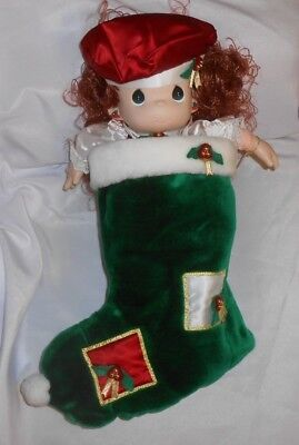 QVC Exclusive Precious Moments 1999 Christmas Holly Doll with Stocking