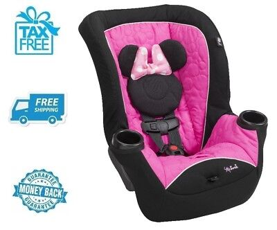 New Disney Minnie Mouse Pink Convertible Car Seat Baby Boy Chair Girls Booster