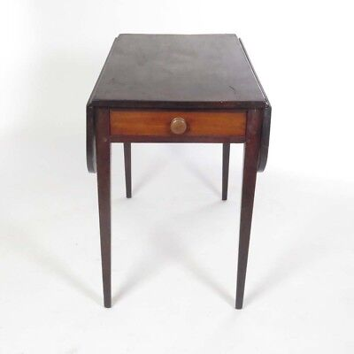 Antique walnut Pembroke table with drawer Hepplewhite 19th c