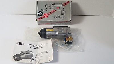"""Sunex Tools 3/8""""Square Drive Butterfly Palm Grip Air Impact Wrench SX-111"""