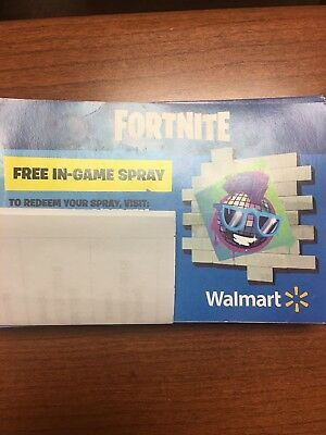Fortnite Epic Walmart In Game Spraycode. Exclusive Spray! Code Sent by message!