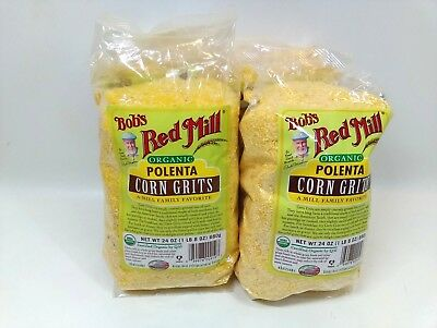 Bob's Red Mill Organic Polenta Corn Grits 24oz (4 pack) OK1-4B