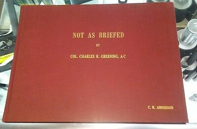 NOT AS BRIEFED C. ROSS GREENING 1945 ORIGINAL First edition DOOLITTLE RAIDERS