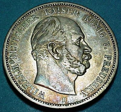 Germany German States - Prussia - 1876B - 5 (FUNF) Mark - Large Silver Coin