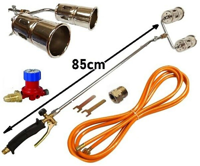 Weed Gas Burner Long Arm Roofing Roofers Tool Hose 5M Propane Butane Kit Heating