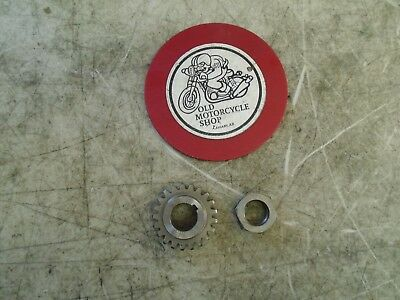 1975 Can-Am 175 Tnt Crank Primary Gear And Nut