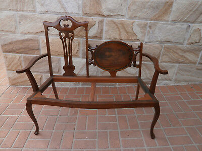 Antique Cedar His and Her Love Seat Frame