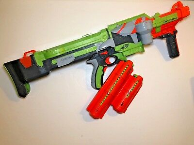 Nerf Vortex Nitron Automatic Blaster Gun With 2X Magazine and 30 Official Discs