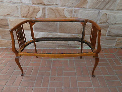 Antique 2 Seater Lounge Frame - Queensland Maple
