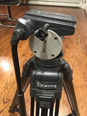 Giottos Bl 1150  Professional Video Camera Tripod Fluid Head & Quick Release