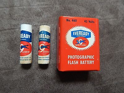 "Lot Of 3 Vintage Eveready ""nine 9 Lives"" Battery."