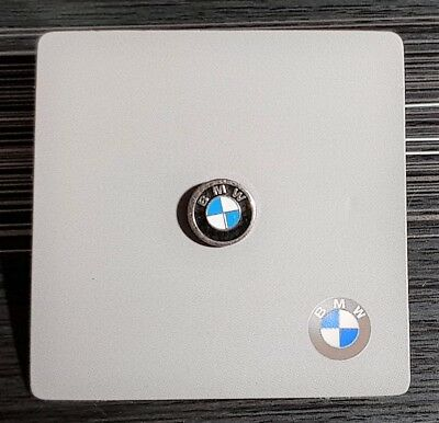 BMW Pin Logotipo Emblema 9mm Barnizado con Original BMW Cartonage