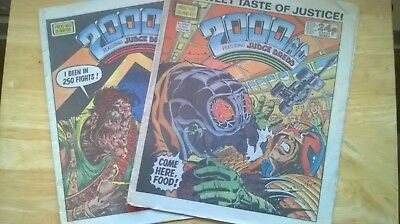 Vintage 2000Ad Comics (2!) Aug 31St 85, Mar 8Th 86. Good Condition!