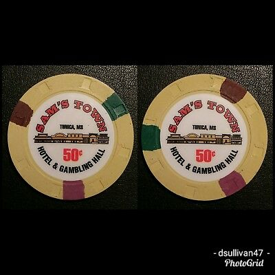 Sam's Town (obsolete) 50c Gambling Chip Tunica, Mississippi
