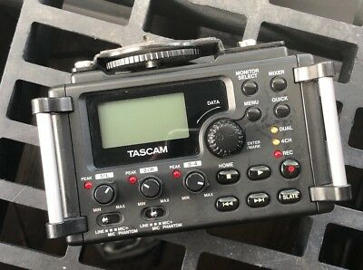 Tascam DR-60D Digital Recorder for Canon, Sony, Nikon. DSLR and Mirrorless XLR