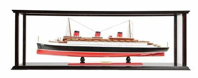 SS Normandie French Cruise Ship Ocean Liner Model With Display Case Assembled