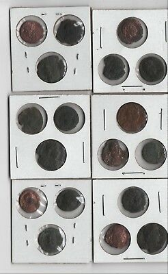 Cleaned Ancient Roman Coin Lot NO RESERVE 18 Coins Various Ages