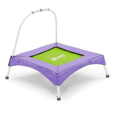 Kids Bouncer My First Childrens Trampoline With Balance Handle Purple And Green