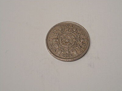 1956 Great Britain Two Shillings Coin