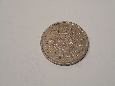 1967 Great Britain Two Shillings Coin