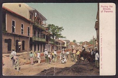 PAVING THE STREETS OF PANAMA - 1900's