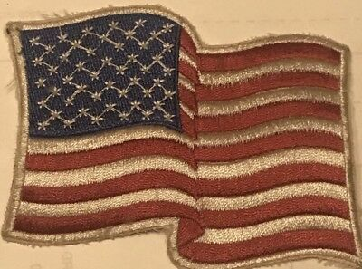 NOS Waving American Flag Embroidered Patch High Quality VIntage