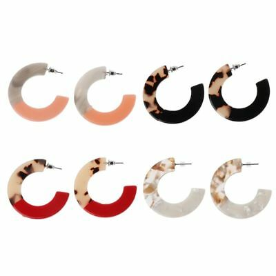 Women Leopard Tortoise Acrylic Resin Circle Hoop Earrings Fashion  Gifts Jewelry