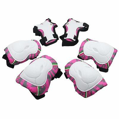 Knee Elbow Wrist Pads Kids Protective Gear for Inline Roller Skating Biking 6 Pc