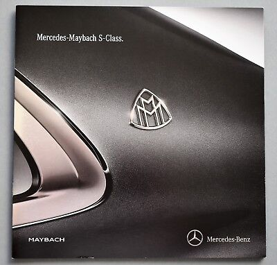 Original 2015 Mercedes Maybach S Class Luxury Sales Brochure ~ 12 Pages ~ 15Mms