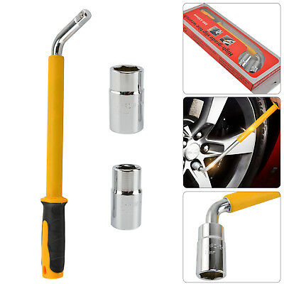 17 19 21&23mm HEAVY DUTY Extendable Car Wheel Brace Socket Tyre Nut Wrench 6-18