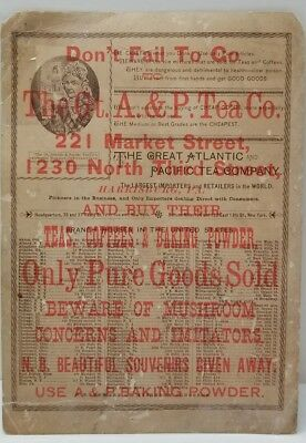 The Great Atlantic & Pacific Tea Co. HARRISBURG PA Litho Large Advertising Trade