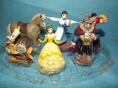 Disney Beauty and The Beast  Deluxe Figurine Set Cake Topper Play Set  NewOther