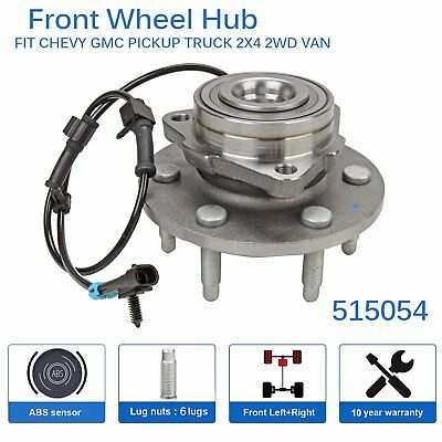 Front Wheel Hub Bearing Assembly w/ ABS 6 Lug For Chevy GMC Truck 2WD  515054