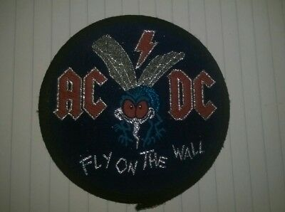 Vintage Original 80's  Ac/dc Fly On The Wall Patch Unused, Rare...