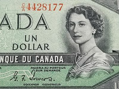 Canada 1954 DEVILS HAIR Bank of Canada $ Dollar Nice AU 125-30
