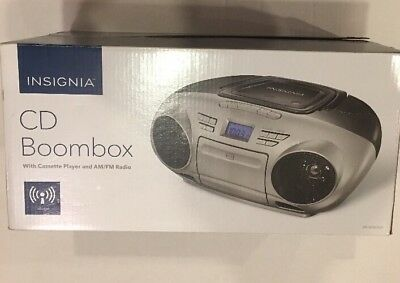 Insignia CD Boombox With Cassette Player And Radio - NS-BCDCAS1