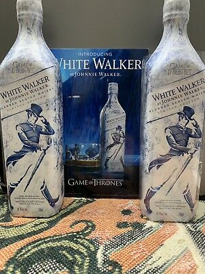 Two bottles of Johnnie Walker The White Walker Special Edition *extremely rare*