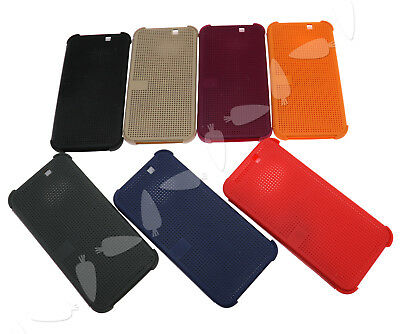 Slim Dot Matrix View Smart Flip Case Phone Cover for HTC One M9 (2015 Edition)