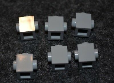 1x2 Light Gray Brick w// 2-nub on 2-sides Lego Bricks NEW Parts 6