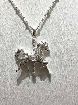 Disney Parks Mary Poppins Carousel Horse Necklace by Rebecca Hook